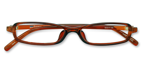 AirSelection Square Frame 0002 Clear Brown