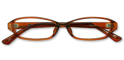 AirSelection Square Frame 0003 Clear Brown