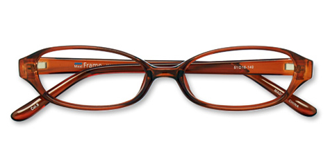AirSelection Oval Frame 0007 Clear Brown