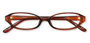 AirSelection Oval Frame 0007 Clear Brown/